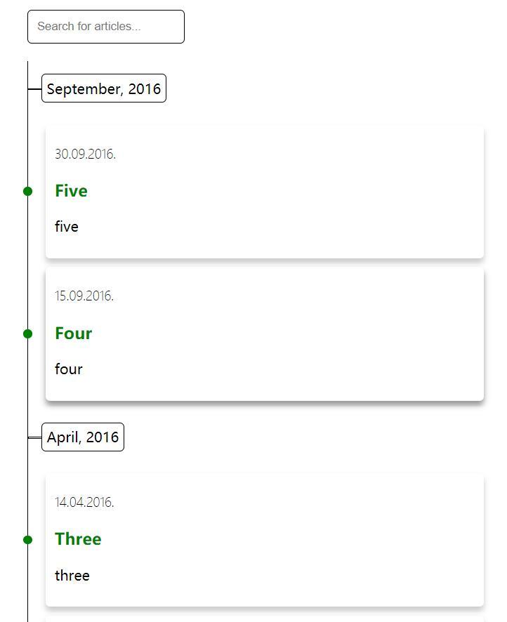 Vue2.0文章时间在线搜索功能插件