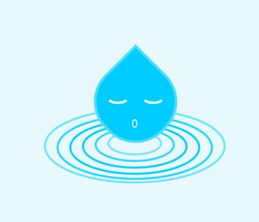 css3蓝色沉睡水滴表情动画特效