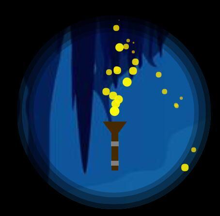 canvas鼠标跟随圆形火把动画特效