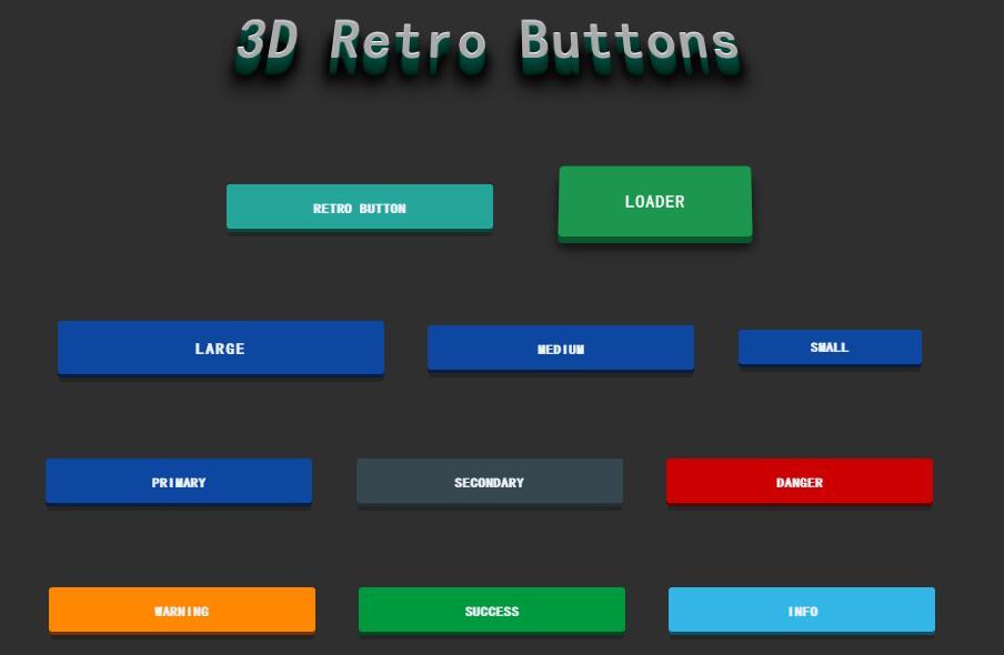 3d button按钮阴影圆角动态效果css3代码