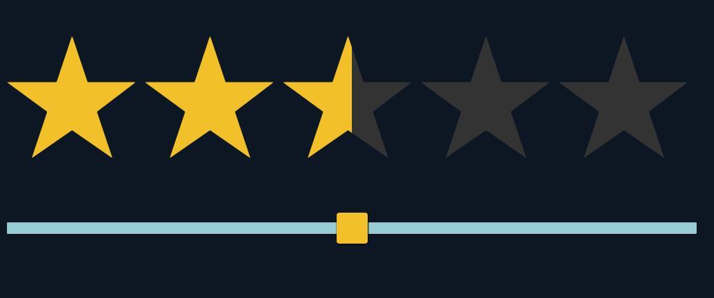 html5表单范围控制属性range星级评分svg插件