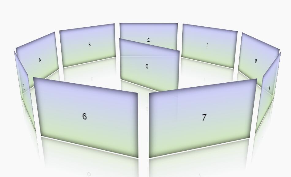 css3图片相册自动循环旋转动画代码