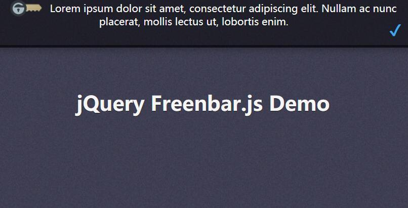 网页顶部悬浮下拉文字信息公告提示div图层jQuery插件代码