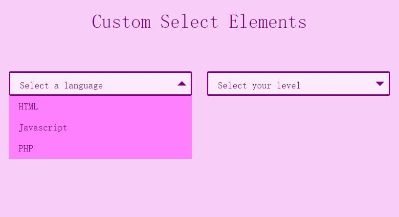 jQuery自定义美化网页select下拉菜单插件代码