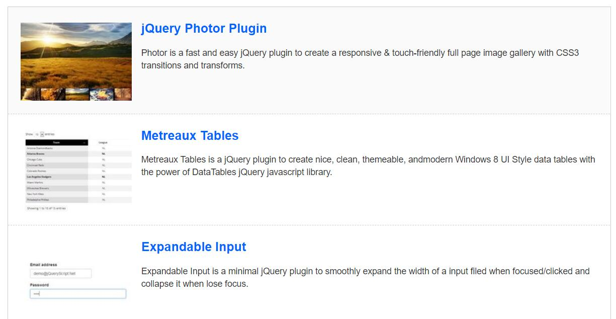 网页图片文字列表定时循环上下滚动特效jQuery插件