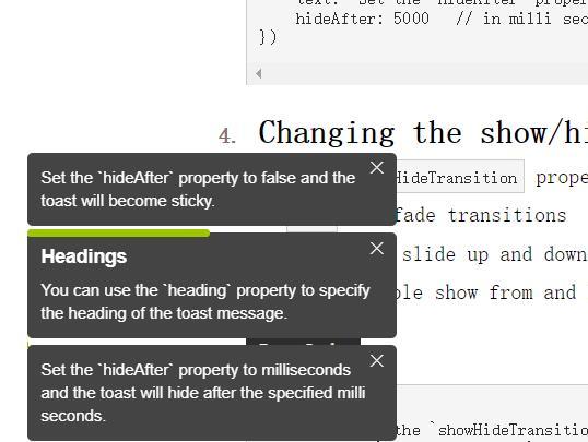 网页左下弹出div圆角进度条定时显示文字信息提示jQuery插件代码