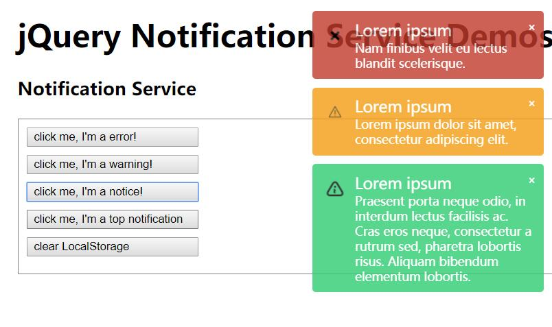 jQuery网页消息通知提示插件代码