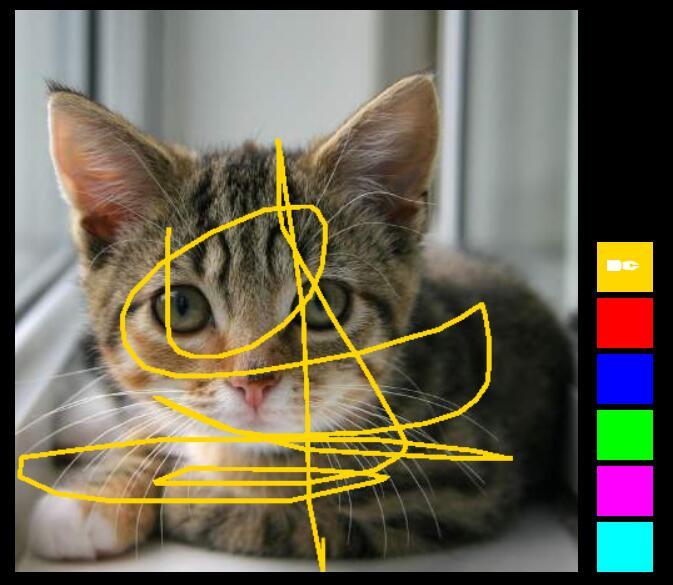 html5 canvas图片在线编辑涂鸦效果js代码