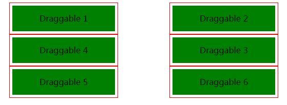 鼠标拖拽div标签排序功能jquery-ui插件代码