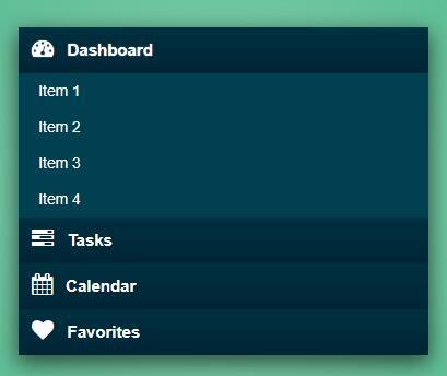 jquery网页侧边栏二级导航菜单收缩展开代码