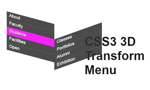 css3倾斜导航菜单栏鼠标hover特效样式代码