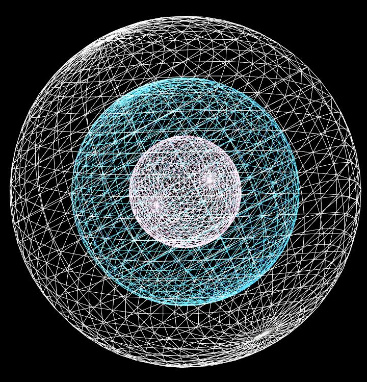 canvas-3d线条轮廓球形旋转动画js代码