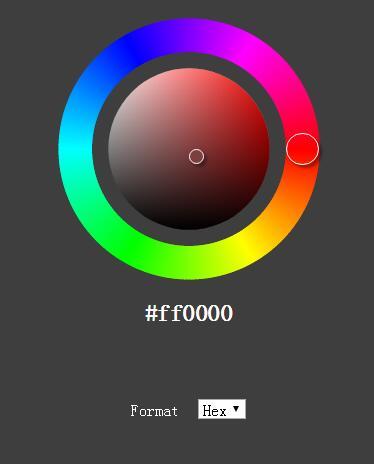 网页div圆形颜色在线选择器插件代码