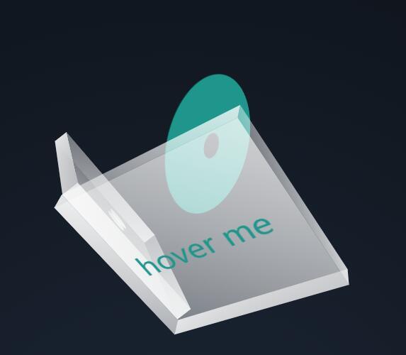 鼠标悬停透明度3D立体div盒子开盖动画样式代码