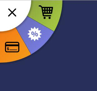网页左上角字体图标圆形导航菜单css3动画代码