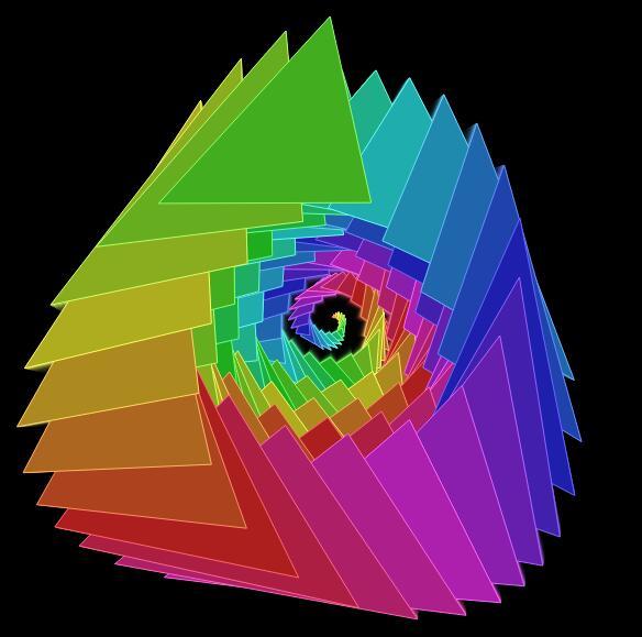 canvas画布霓虹立体几何图形变化js特效代码