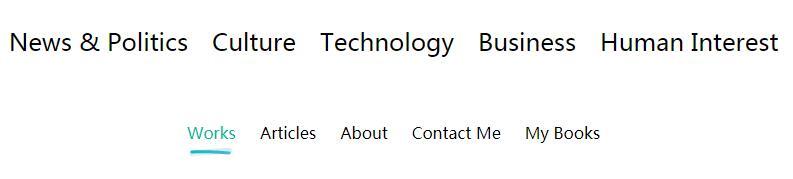 网页导航菜单鼠标悬停显示下划线样式代码