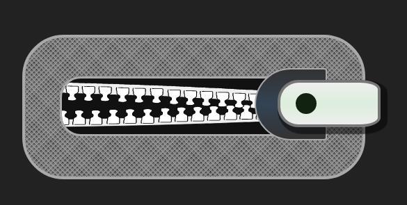 divcss圆角拉链动画特效样式代码
