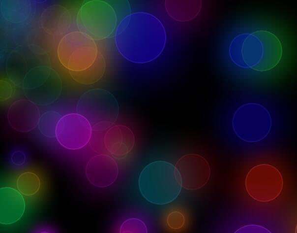 divcss霓虹色圈圈动画样式代码