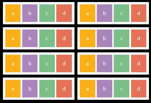 html列表分组排版布局样式代码