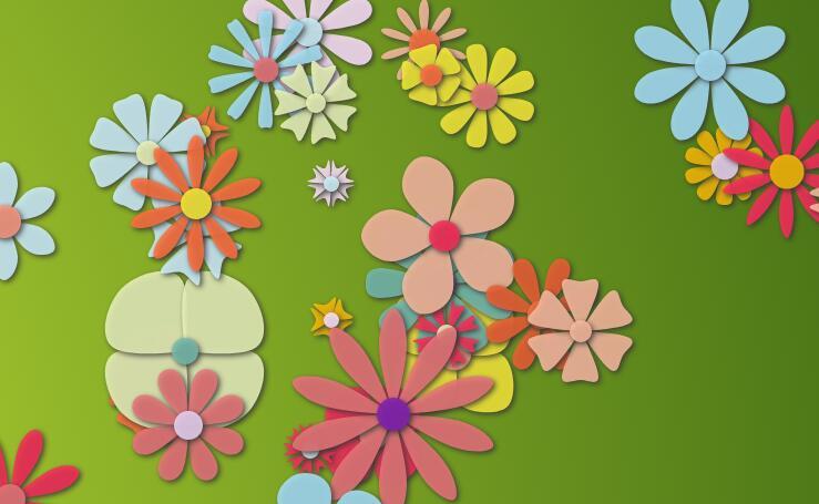 html5网站特效canvas画布五彩花瓣展开动画js代码