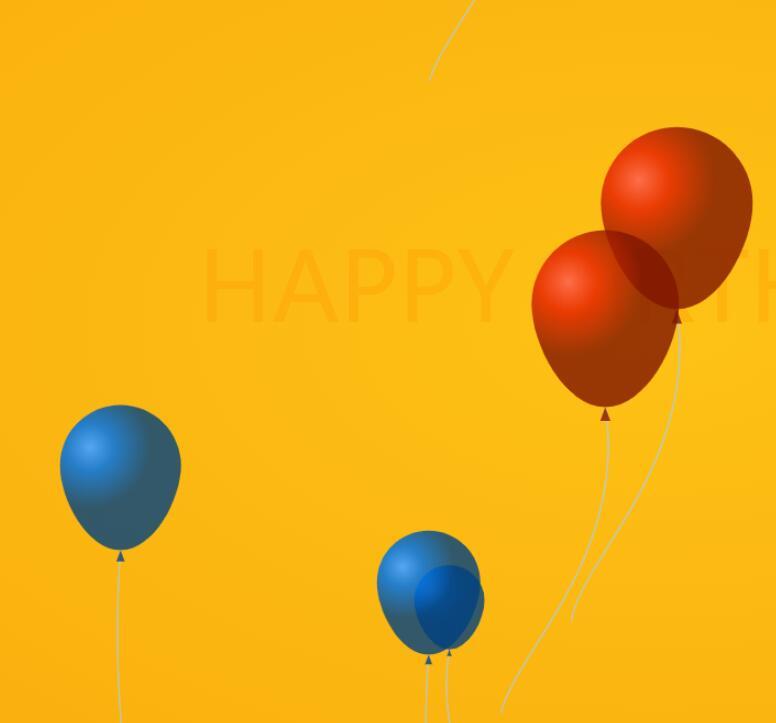 html5网站特效canvas画布绘制彩色气球升空动画js代码