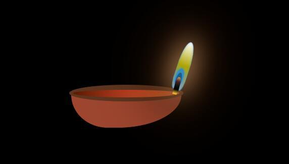 css3网页特效制作3d煤油灯灯芯火焰动画样式