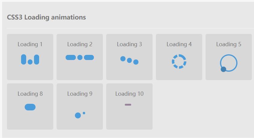 CSS3 Loading animations图标网页加载动画样式代码