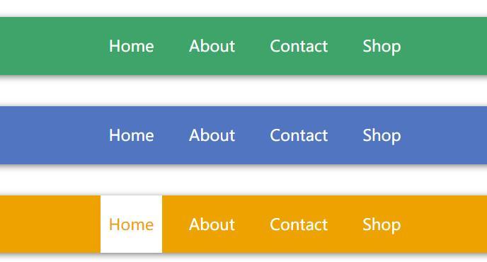 网页导航条鼠标悬浮高亮选中状态divcss动画样式代码