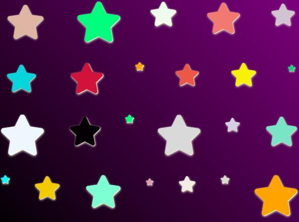 divcss小星星闪烁动画背景色渐变样式代码
