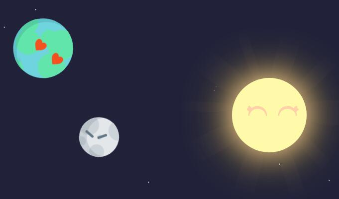 cssdiv样式代码制作天狗食日动画特效