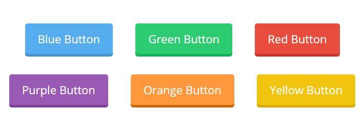 html网页设计平面UI按钮3d圆角样式代码