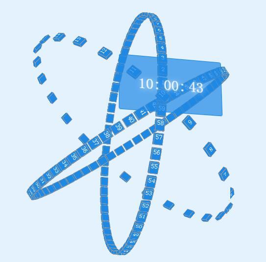 网页个性刻度时钟鼠标意向3d效果js代码