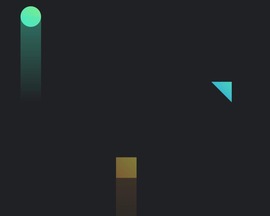 html静态网页代码制作带阴影图形缓缓上升动画特效