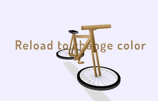 css div样式代码绘制3d自行车旋转立体视觉效果