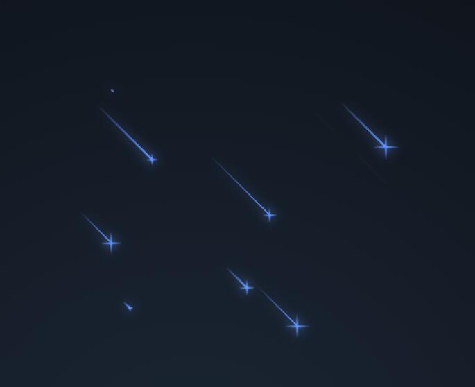 html5css3样式代码制作星空流星滑过动画特效