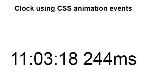 js原生毫秒单位动画在线时间代码下载
