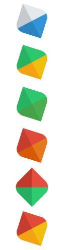 css3圆角菱形logo图层360度旋转特效样式代码