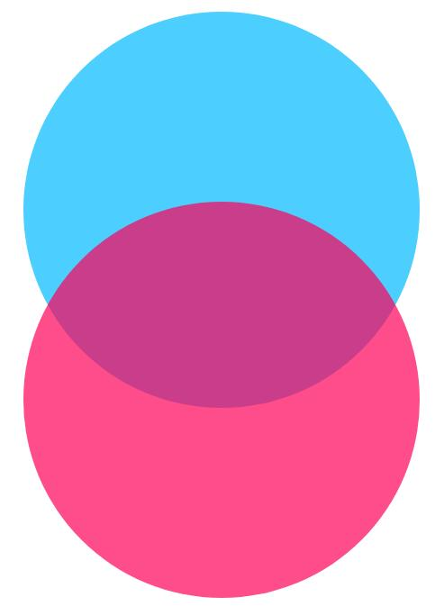 htmlcss圆形半透明维恩图重叠特效网页代码