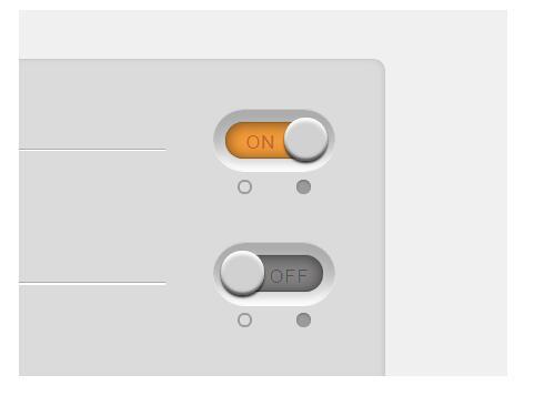 css3伪类3D圆角开关按钮滑动切换样式代码