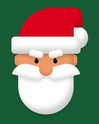 css3 3D视觉圣诞老人表情动画选择器代码
