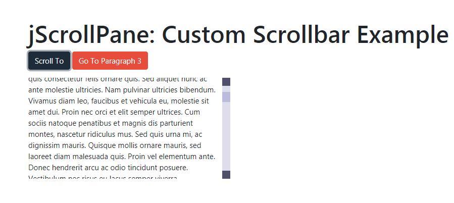 div滚动条美化选择器指定位置滑动特效jquery.jscrollpane.js插件下载